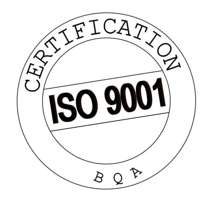 Iso Certification nr: BQA_QMS019_C_1998182